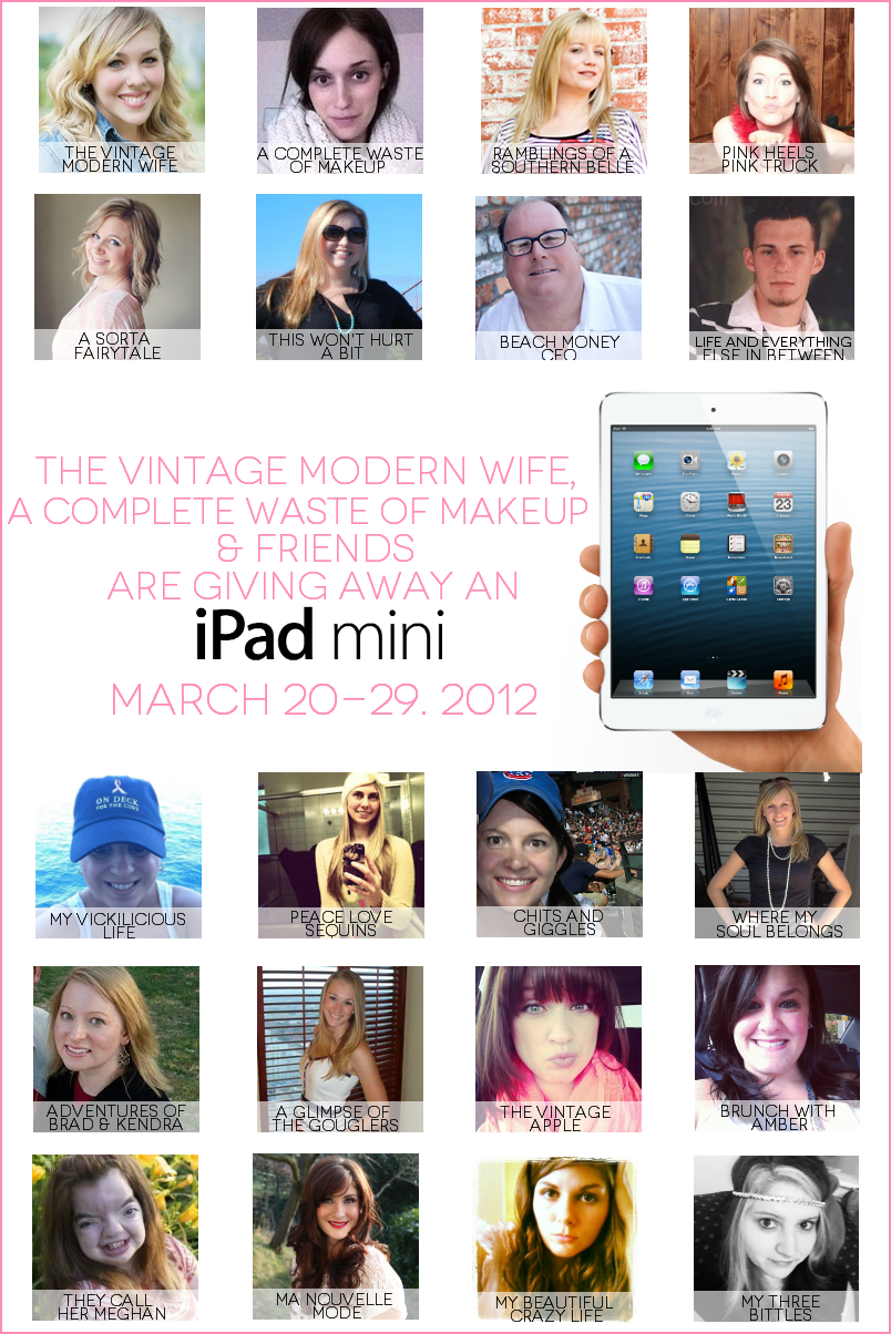 Ipad Mini giveaway from The Vintage Modern Wife & A Complete Waste of Makeup & Friends!